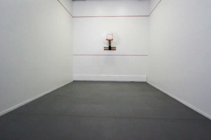 Photo of indoor small basketball court