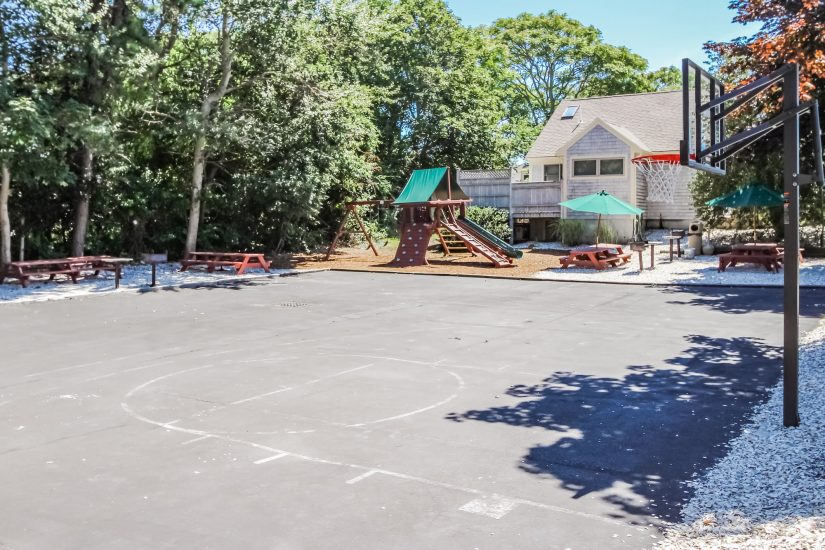 Photo of playground and basketball court